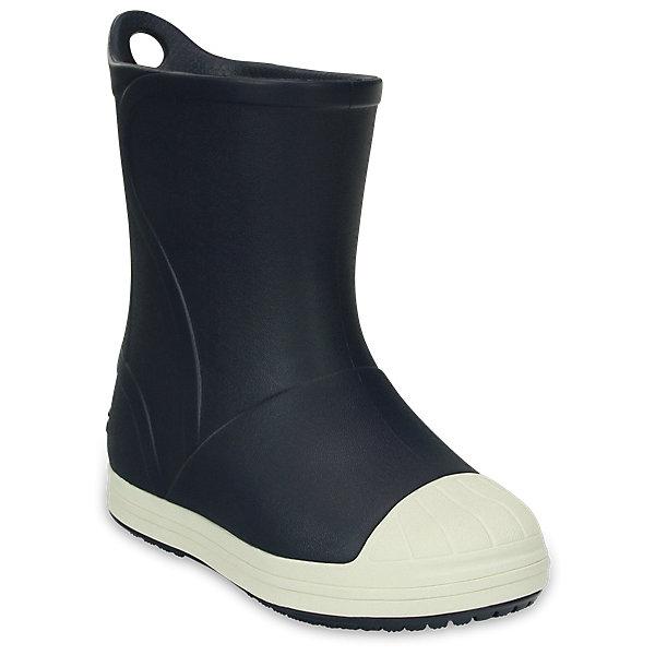 Резиновые сапоги  CROCS для мальчикаРезиновые сапоги<br>Характеристики товара:<br><br>• модель: Crocs Bump It Boot<br>• цвет: синий;<br>• состав: 100% полимер Croslite™;<br>• сезон: демисезон;<br>• температурный режим: от 0 до 20;<br>• застежка: нет;<br>• непромокаемые;<br>• защита мыса;<br>• петелька для удобства надевания;<br>• подошва не скользит;<br>• анатомические;<br>• светоотражающий логотип в области пятки;<br>• страна бренда: США<br><br>Яркие непромокаемые сапоги сохранят ножки вашего ребенка теплыми и сухими. Невероятно легкие, мягкие и удобные благодаря материалу Croslite. 100% защита от влаги - полностью литая модель. Светоотражающий логотип в области пятки для безопасности в темное время суток. Благодаря задней петельке сапоги легко надевать и снимать.<br><br>Резиновые сапоги детские Crocs - идеальная обувь в дождливую погоду. Подошва с протектором предотвращает скольжение. В таких резиновых сапогах ножкам ребенка будет уютно.<br><br>Резиновые сапоги CROCS  (Крокс)  можно купить в нашем интернет-магазине.<br>Ширина мм: 237; Глубина мм: 180; Высота мм: 152; Вес г: 438; Цвет: темно-синий; Возраст от месяцев: 18; Возраст до месяцев: 21; Пол: Мужской; Возраст: Детский; Размер: 23,34/35,33/34,31/32,30,29,28,27,26,25,24; SKU: 7892433;