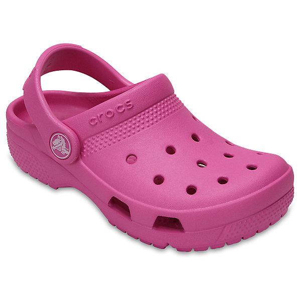Сабо  CROCS для девочкиПляжная обувь<br>Характеристики товара:<br><br>• модель: Crocs Coast Clog K<br>• цвет: розовый;<br>• состав: 100% полимер Croslite™;<br>• сезон: лето;<br>• температурный режим: от +20;<br>• модель: закрытые;<br>• застежка: пяточный ремешок;<br>• непромокаемые;<br>• вентилируемые;<br>• рельефный рисунок подошвы;<br>• анатомические;<br>• светоотражающий логотип в области пятки;<br>• страна бренда: США<br><br>Стильные Сабо Crocs  придутся по душе вашему ребенку. Модель полностью выполнена из полимерного материала. Съемный пяточный ремешок, оформленный названием бренда, предназначен для фиксации стопы при ходьбе. Рифление на подошве гарантирует идеальное сцепление с любой поверхностью. Такие сабо яркого розового цвета - отличное решение для каждодневного использования!<br><br>Благодаря материалу Croslite обувь невероятно легкая, мягкая и удобная. Материал Croslite - бактериостатичен, препятствует появлению неприятных запахов и легок в уходе: быстро сохнет и не оставляет следов на любых поверхностях. <br><br>Сабо CROCS  (Крокс), розовые, можно купить в нашем интернет-магазине.<br>Ширина мм: 225; Глубина мм: 139; Высота мм: 112; Вес г: 290; Цвет: розовый; Возраст от месяцев: 18; Возраст до месяцев: 21; Пол: Женский; Возраст: Детский; Размер: 23,34/35,33/34,31/32,30,29,28,27,26,25,24; SKU: 7892656;