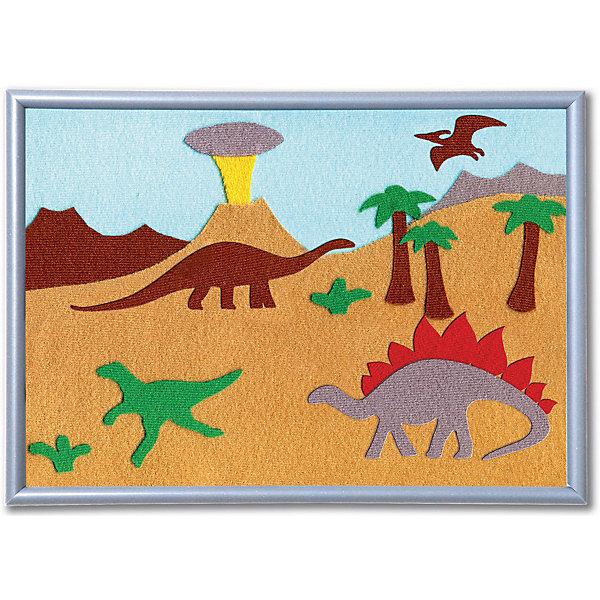 Набор STIGIS Аппликация Динозавры, 30х21Аппликации из бумаги<br>Характеристики:<br><br>• набор для творчества;<br>• аппликация из ткани;<br>• тема набора: животные;<br>• способ крепления: готовый рисунок прижать утюгом;<br>• материал: специальная ткань Stigis-textile;<br>• ткань хорошо режется и не сечется;<br>• размер рамки: 21х30 см;<br>• размер упаковки: 32х22х2 см;<br>• вес: 215 г.<br><br>Комплектация набора: <br><br>• фон для картинки 21х30 см, <br>• ткань различных расцветок с уникальным термоклеевым слоем, <br>• выкройка, <br>• рамка, <br>• инструкция.<br><br>Кто сказал, что динозавры вымерли? Красавцы свободно блуждают на картинке в поисках пищи, мирно и дружелюбно живут друг с другом. <br><br>Аппликация-картинка изготавливается из ткани. Детали для создания аппликации вырезаются из ткани по контурам, на цветном фоне формируется композиция. Далее необходимо прижать готовую картинку утюгом – элементы с термоклеевой основой плотно прилегают друг к другу. Красочная аппликация помещается в рамку. <br><br>Набор STIGIS «Аппликация Динозавры» с рамкой,  21х30  можно купить в нашем интернет-магазине.<br>Ширина мм: 220; Глубина мм: 310; Высота мм: 15; Вес г: 180; Возраст от месяцев: 84; Возраст до месяцев: 2147483647; Пол: Унисекс; Возраст: Детский; SKU: 7905673;