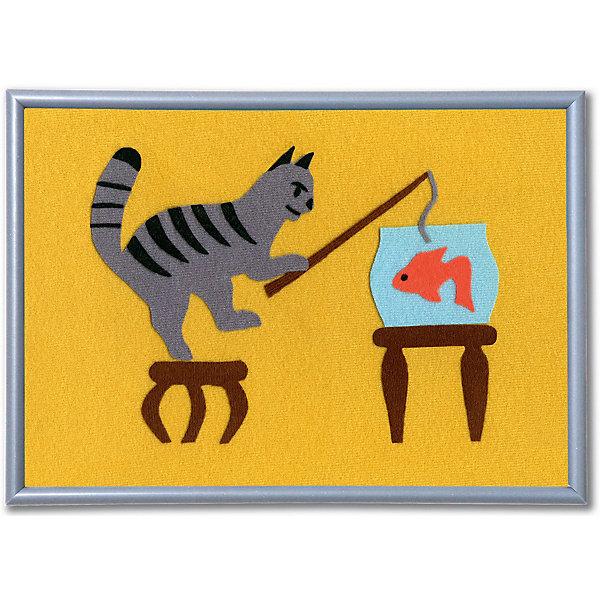 Набор STIGIS Аппликация Кот-рыболов, 30х21Аппликации из бумаги<br>Характеристики:<br><br>• набор для творчества;<br>• аппликация из ткани;<br>• тема набора: животные;<br>• способ крепления: готовый рисунок прижать утюгом;<br>• материал: специальная ткань Stigis-textile;<br>• ткань хорошо режется и не сечется;<br>• размер рамки: 21х30 см;<br>• размер упаковки: 32х22х2 см;<br>• вес: 215 г.<br><br>Комплектация набора: <br><br>• фон для картинки 21х30 см, <br>• ткань различных расцветок с уникальным термоклеевым слоем, <br>• выкройка, <br>• рамка, <br>• инструкция.<br><br>Ученый кот проявляет смекалку и хитрость, чтобы выловить из аквариума золотую рыбку. Такая композиция вызывает улыбку и радость. <br><br>Аппликация-картинка изготавливается из ткани. Детали для создания аппликации вырезаются из ткани по контурам, на цветном фоне формируется композиция. Далее необходимо прижать готовую картинку утюгом – элементы с термоклеевой основой плотно прилегают друг к другу. Красочная аппликация помещается в рамку. <br><br>Набор STIGIS «Аппликация Кот-рыболов» с рамкой,  21х30  можно купить в нашем интернет-магазине.<br>Ширина мм: 220; Глубина мм: 310; Высота мм: 15; Вес г: 180; Возраст от месяцев: 84; Возраст до месяцев: 2147483647; Пол: Унисекс; Возраст: Детский; SKU: 7905675;