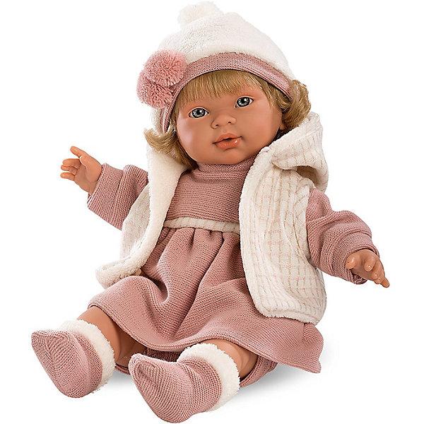 Кукла Llorens Марина, 42 см со звукомКуклы<br>Характеристики:<br><br>• тип игрушки: кукла;<br>• возраст: от 3 лет;<br>• материал: ПВХ, текстиль, полиэфирное волокно;<br>• цвет: бежевый;<br>• высота куклы: 42 см;<br>• вес: 1,2 кг;<br>• размер: 47х15х24 см;<br>• страна бренда: Испания;<br>• бренд: Llorens.<br><br>Кукла Llorens «Марина» 42 см со звуком выглядит совсем как настоящий младенец. У неё мягконабивное тельце из нежного винила – очень приятного на ощупь материала. Пожалуй, лучшего подарка для маленькой принцессы и придумать нельзя.<br><br>Кукла - блондинка с серо-голубыми глазами. Это озвученный пупс Llorens Juan из Испании. На ней платье цвета чайной розы, утепленная  куртка с капюшоном, носочки и шапочка с помпоном в тон.К одежде пристегивается соска. Латексная пустышка нужна для того, чтобы успокоить кроху. Ведь если вытащить ее изо рта, крошка будет плакать и звать маму и папу.<br><br>Куклу Llorens «Марина» 42 см со звуком можно купить в нашем интернет-магазине.<br>Ширина мм: 47; Глубина мм: 15; Высота мм: 24; Вес г: 1170; Возраст от месяцев: 36; Возраст до месяцев: 72; Пол: Женский; Возраст: Детский; SKU: 7905754;
