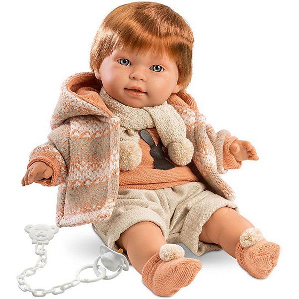 Кукла Llorens Кристиан, 42 см  со звукомКуклы<br>Характеристики:<br><br>• тип игрушки: кукла;<br>• возраст: от 3 лет;<br>• материал: ПВХ, текстиль, полиэфирное волокно;<br>• цвет: бежевый;<br>• высота куклы: 42 см;<br>• вес: 1,2 кг;<br>• размер: 47х15х24 см;<br>• страна бренда: Испания;<br>• бренд: Llorens.<br><br>Кукла Llorens «Кристиан» 42 см со звуком станет отличным подарком для любой девочки. Игрушка выполнена из приятного на ощупь материала, нарядно одета, умеет плакать и звать родителей. Благодаря детально прорисованным чертам она необычайно похожа на настоящего младенца.<br><br>Кукла имеет мягконабивное тело, а голова ручки и ножки изготовлены из приятного на ощупь винила с запахом ванили. Подвижные части тела позволяют легко переодевать куколку и придавать ей различные игровые позы. Если отобрать у Кристиана соску, малыш начинает плакать и звать маму и папу, эту особенность можно отключить.<br><br>Куклу Llorens «Кристиан» 42 см со звуком можно купить в нашем интернет-магазине.<br>Ширина мм: 47; Глубина мм: 15; Высота мм: 24; Вес г: 1170; Возраст от месяцев: 36; Возраст до месяцев: 72; Пол: Женский; Возраст: Детский; SKU: 7905756;
