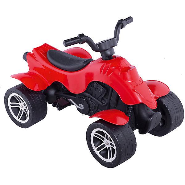 Квадроцикл Falk красный, педальный, 84 смКаталки для малышей<br>Характеристики:<br><br>• тип игрушки: квадроцикл;<br>• возраст: от 2 лет;<br>• высота сиденья: 35 см;<br>• длина ноги:  30 см;<br>• максимальная нагрузка: 30 кг;<br>• цвет: красный;<br>• материал: пластик, металл;<br>• вес: 6 кг;<br>• размер: 84х50х48 см;<br>• бренд: Falk.<br><br>Квадроцикл Falk красный, педальный, 84 см прост в управлении: руль и педали вращаются без лишних усилий. Педальный квадроцикл обладает широкими устойчивыми колесами, которые позволяют безопасно выполнить любые маневры даже на неровных и сыпучих поверхностях. <br>Современный пластик и металлический сплав, из которых выполнен квадроцикл, делают модель Falk надежной и долговечной. <br><br>Детский квадроцикл педальный Falk подарит ребенку новые впечатления в сочетании с полезной физической нагрузкой: вращая педали, малыш укрепляет мышцы ног, а процесс управления рулем улучшает координацию движений. <br><br>Квадроцикл Falk красный, педальный, 84 см можно купить в нашем интернет-магазине.<br>Ширина мм: 84; Глубина мм: 50; Высота мм: 56; Вес г: 6000; Возраст от месяцев: 36; Возраст до месяцев: 84; Пол: Унисекс; Возраст: Детский; SKU: 7905802;