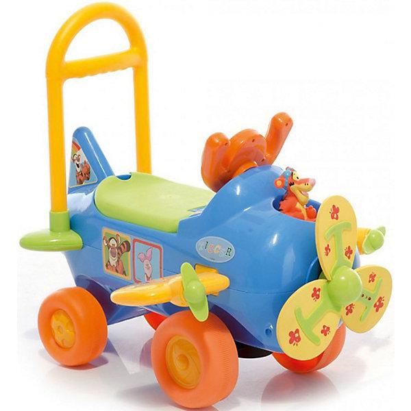 Каталка-пушкар Kiddieland Тигруля с пропеллеромМашинки-каталки<br>Характеристики:<br><br>• тип игрушки: каталка;<br>• возраст: от 1 года;<br>• тип батареек: 3хАА;<br>• наличие батареек: входят в комплект;<br>• материал: пластик;<br>• вес: 3,9 кг;<br>• размер: 56х28х35 см;<br>• бренд: Kiddieland.<br><br>Каталка-пушкар Kiddieland «Тигруля» с пропеллером  выполнена в виде самолета. На капоте - пропеллер, который умеет быстро крутиться. Он изготовлен из мягкого материала, поэтому можно не беспокоиться, что он сильно ударит малыша. Руль этой каталки выполнен в форме штурвала самолета. <br><br>По бокам имеются крылья с маленькими пропеллерами, а сзади есть небольшой хвост. Высота сиденья - 24 см. На штурвале имеются 2 кнопки - при нажатии на них играет музыка, крутится пропеллер, при этом на нем загораются лампочки. Если повернуть ключ зажигания, пропеллер крутится беззвучно.<br><br>Каталку-пушкар Kiddieland «Тигруля» с пропеллером  можно купить в нашем интернет-магазине.<br>Ширина мм: 56; Глубина мм: 28; Высота мм: 35; Вес г: 3900; Возраст от месяцев: 12; Возраст до месяцев: 36; Пол: Унисекс; Возраст: Детский; SKU: 7905812;