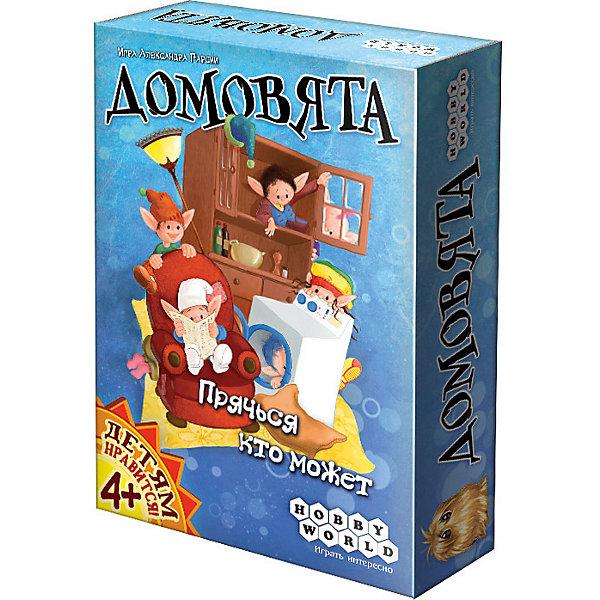 Hobby World 1261 ДомовятаНастольные игры для всей семьи<br>Характеристики:<br><br>• тип игрушки: настольная игра;<br>• возраст: от 4 лет;<br>• материал: картон, пластик;<br>• комплектация:  168 карт, 1 кубик, правила игры;<br>• время игры: 40 мин;<br>• количество игроков: 3-9 человек;<br>• вес: 150 гр;<br>• размер: 11х15х4 см;<br>• страна бренда: Россия;<br>• бренд: Hobby World.<br><br>Настольная игра Hobby World «Домовята» позволит легко посоревноваться со взрослыми. В вашем доме поселились забавные домовята.Без паники, они вовсе не любители разрисовывать фломастерами обои, и им ни к чему кормить вашу кошку валерьянкой. Зато домовята обожают играть в прятки, и чтобы отыскать их всех, вам пригодится недюжинная зоркость и внимательность. <br><br>Настольную игру Hobby World «Домовята» можно купить в нашем интернет-магазине.<br>Ширина мм: 150; Глубина мм: 107; Высота мм: 37; Вес г: 150; Возраст от месяцев: 48; Возраст до месяцев: 2147483647; Пол: Унисекс; Возраст: Детский; SKU: 7906223;