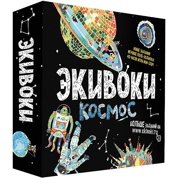 Настольная игра Экивоки 21222 КосмосНастольные игры ходилки<br>Характеристики:<br><br>• тип игрушки: настольная игра;<br>• возраст: от 6 лет;<br>• материал:  картон, пластик;<br>• комплектация:  игровое поле-пазл (6 кусочков); 2 колоды карточек по 90 штук; 5 фишек;<br>пластилин; кубик; песочные часы; правила игры;<br>• количество игроков: 2-5, 4-16 человек;<br>• время игры: 40-60 мин;<br>• вес: 1 кг;<br>• размер: 26х26х6 см;<br>• бренд: Экивоки.<br><br>Настольная игра Экивоки «Космос» - модный и экстравагантный суперхит. 5 новых тем, 2 новых экивока, больше заданий на лепку, нет песен (но есть звуки), карт 180, но зато большое игровое поле-пазл (46х68 см), которое можно использовать как самостоятельную игру-ходилку. Контент написали так, чтобы не травмировать психику тех, кому меньше 16 лет, но чтобы при этом не заскучали те, кому больше 16.<br><br>Игры Экивоки Вам хватит на долго, заданий здесь на 60 часов непрерывной игры! В какой еще игре в ассоциации столько способов объяснить слова как в Экивоки? Больше такой игры нет. <br><br>Настольную игру Экивоки «Космос» можно купить в нашем интернет-магазине.<br>Ширина мм: 260; Глубина мм: 260; Высота мм: 65; Вес г: 1085; Возраст от месяцев: 72; Возраст до месяцев: 2147483647; Пол: Унисекс; Возраст: Детский; SKU: 7906245;