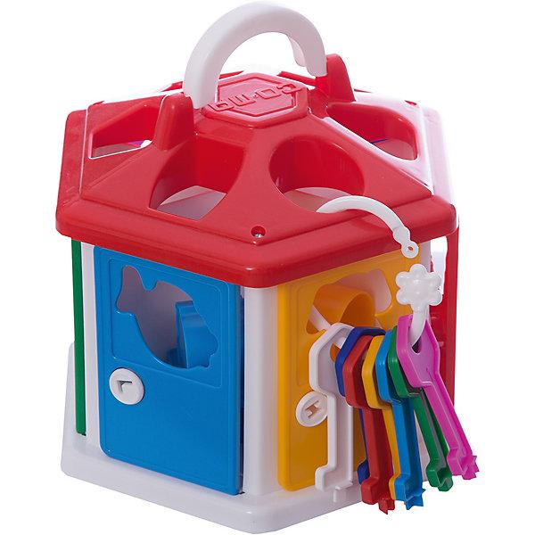Сортер Полесье Логический домик, с красной крышей, в коробкеРазвивающие игрушки<br>Характеристики:<br><br>• возраст: от 1 года;<br>• материал: пластик;<br>• в наборе: сортер, 7 ключей, 12 фигурок;<br>• вес упаковки: 724 гр.;<br>• размер упаковки: 22,4х19,5х21,3 см;<br>• страна бренда: Беларусь.<br><br>Сортер «Логический домик» от бренда «Полесье» научит малыша различать формы, цвета и названия разных предметов и животных.<br><br>Домик-сортер имеет семь дверей, которые можно открыть ключами. Через дверь и крышу малышу предстоит помещать внутрь фигурки подходящей формы.<br><br>Игра развивает внимательность, логическое мышление и цветовосприятие. Все элементы выполнены из прочного безопасного пластика.<br><br>Сортер Полесье «Логический домик», с красной крышей, в коробке можно купить в нашем интернет-магазине.<br>Ширина мм: 224; Глубина мм: 195; Высота мм: 213; Вес г: 724; Цвет: красный; Возраст от месяцев: 12; Возраст до месяцев: 3; Пол: Унисекс; Возраст: Детский; SKU: 7906526;