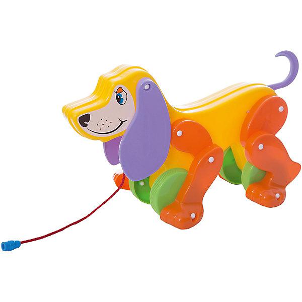 Купить Собака-каталка Полесье Боби , с сиреневыми ушами и оранжевыми лапами, Беларусь, фиолетовый, Унисекс