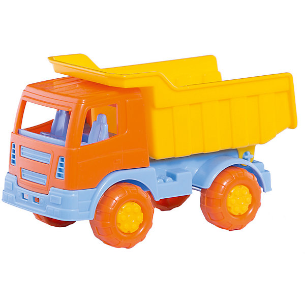 Купить Самосвал Полесье Тёма , с желтым кузовом, в коробке, Беларусь, желтый, Мужской