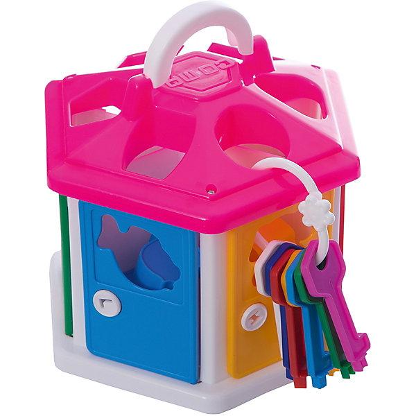 Сортер Полесье Логический домик, с розовой крышей, в коробкеРазвивающие игрушки<br>Характеристики:<br><br>• возраст: от 1 года;<br>• материал: пластик;<br>• в наборе: сортер, 7 ключей, 12 фигурок;<br>• вес упаковки: 724 гр.;<br>• размер упаковки: 22,4х19,5х21,3 см;<br>• страна бренда: Беларусь.<br><br>Сортер «Логический домик» от бренда «Полесье» научит малыша различать формы, цвета и названия разных предметов и животных.<br><br>Домик-сортер имеет семь дверей, которые можно открыть ключами. Через дверь и крышу малышу предстоит помещать внутрь фигурки подходящей формы.<br><br>Игра развивает внимательность, логическое мышление и цветовосприятие. Все элементы выполнены из прочного безопасного пластика.<br><br>Сортер Полесье «Логический домик», с розовой крышей, в коробке можно купить в нашем интернет-магазине.<br>Ширина мм: 224; Глубина мм: 195; Высота мм: 213; Вес г: 724; Цвет: розовый; Возраст от месяцев: 12; Возраст до месяцев: 3; Пол: Унисекс; Возраст: Детский; SKU: 7906598;