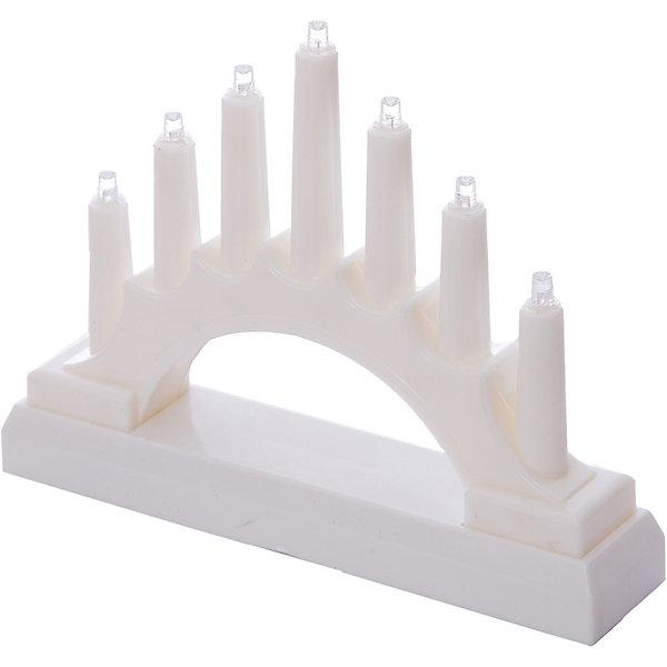 Декоративная фигурка-горка B&amp;H Свечи, 7 LED, белаяНовогодние свечи и подсвечники<br>Характеристики товара:<br><br>• возраст: от 3 лет;<br>• упаковка: картонная коробка;<br>• размер украшения: 17х13х3,8 см.;<br>• вес: 140 гр.;<br>• тип лампочек: светодиоды;<br>• количество лампочек: 7;<br>• цвет диодов: холодный белый;<br>• состав: пластик, металл;<br>• бренд, страна изготовления: B&amp;H, Китай.<br><br>Светодиодное декоративное украшение «Горка» от торговой марки B&amp;H - оригинальное украшение в форме горки с 7 светодиодами внутри.<br><br>Украшение изготовлено из пластика высокого качества. Тип питания - от батареек 2хАА (не входят в комплект поставки). Применяется для украшения помещений, окон, витрин и других объектов, используется внутри помещений. <br><br>Светодиодное украшение «Горка» подарит уют и новогоднюю атмосферу вашему дому и станет прекрасным элементом декора. Отлично подойдет в качестве хорошего сувенира для друзей и близких.<br><br>Светодиодное украшение «Горка», B&amp;H  можно купить в нашем интернет-магазине.<br>Ширина мм: 135; Глубина мм: 44; Высота мм: 178; Вес г: 142; Цвет: белый; Возраст от месяцев: 36; Возраст до месяцев: 2147483647; Пол: Унисекс; Возраст: Детский; SKU: 7910289;