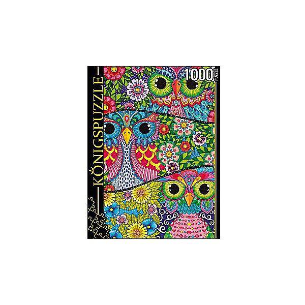 Пазл Konigspuzzle Цветные совы 1000 элементовПазлы классические<br>Характеристики товара:<br><br>• возраст: от 8 лет;<br>• количество деталей: 1000 шт;<br>• материал: картон;<br>• размер упаковки: 26х20х5 см;<br>• размер картины: 69х49 см;<br>• вес упаковки: 672 гр.;<br>• страна бренда: Германия.<br><br>Пазл Konigspuzzle Цветные совы – это отличный способ увлекательно провести досуг, снять стресс и развить моторику.<br>Каждая деталь имеет индивидуальную форму и легко соединяется с другой, поэтому у Вас обязательно получится ожидаемый результат.<br><br>Пазл Konigspuzzle Цветные совы можно купить в нашем интернет-магазине.<br>Ширина мм: 415; Глубина мм: 275; Высота мм: 280; Вес г: 7000; Возраст от месяцев: 36; Возраст до месяцев: 2147483647; Пол: Унисекс; Возраст: Детский; SKU: 7910301;