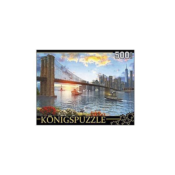 Пазл Konigspuzzle Бруклинский мост 500 элементовПазлы классические<br>Характеристики товара:<br><br>• возраст: от 7 лет;<br>• количество деталей: 500 шт;<br>• материал: картон;<br>• размер упаковки: 26х20х5 см;<br>• размер картины: 50х34 см;<br>• вес упаковки: 480 гр.;<br>• страна бренда: Германия.<br><br>Пазл Konigspuzzle Бруклинский мост – это отличный способ увлекательно провести досуг, снять стресс и развить моторику.<br>Каждая деталь имеет индивидуальную форму и легко соединяется с другой, поэтому у Вас обязательно получится ожидаемый результат.<br><br>Пазл Konigspuzzle Бруклинский мост можно купить в нашем интернет-магазине.<br>Ширина мм: 420; Глубина мм: 285; Высота мм: 280; Вес г: 4800; Возраст от месяцев: 36; Возраст до месяцев: 2147483647; Пол: Унисекс; Возраст: Детский; SKU: 7910483;
