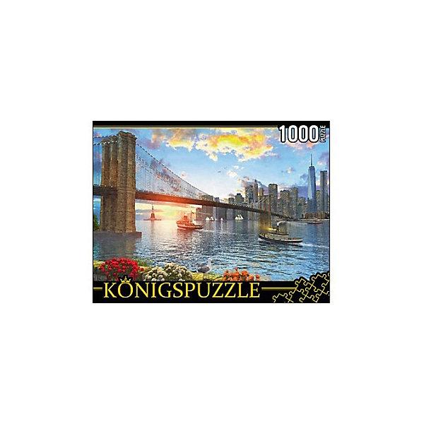 Пазл Konigspuzzle Бруклинский мост 1000 элементовПазлы классические<br>Характеристики товара:<br><br>• возраст: от 8 лет;<br>• количество деталей: 1000 шт;<br>• материал: картон;<br>• размер упаковки: 26х20х5 см;<br>• размер картины: 69х49 см;<br>• вес упаковки: 672 гр.;<br>• страна бренда: Германия.<br><br>Пазл Konigspuzzle Бруклинский мост – это отличный способ увлекательно провести досуг, снять стресс и развить моторику.<br>Каждая деталь имеет индивидуальную форму и легко соединяется с другой, поэтому у Вас обязательно получится ожидаемый результат.<br><br>Пазл Konigspuzzle Бруклинский мост можно купить в нашем интернет-магазине.<br>Ширина мм: 415; Глубина мм: 275; Высота мм: 280; Вес г: 7000; Возраст от месяцев: 36; Возраст до месяцев: 2147483647; Пол: Унисекс; Возраст: Детский; SKU: 7910501;