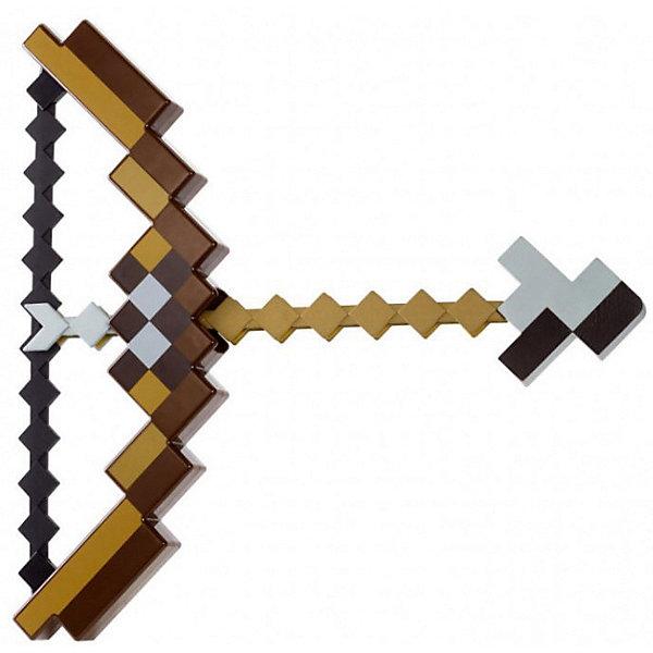 Лук и стрелы  Pixel Crew Minecraft пиксельныtИгрушечные арбалеты и луки<br>Характеристики товара:<br><br>• возраст:  от 3 лет<br>• размер: 30х34х4 см<br>• материал: мягкий полимер HDPE, пластик<br>• игрушечное оружие из видеоигры Minecraft.<br><br>Игровой набор Pixel Crew для всех любителей игр в стилистике Minecraft. Универсальный лук. Каучуковое основание усиленное пластиковым корпусом, отличный повод воплотить в жизнь любую идею для игры, косплея или реконструкции.<br><br>Лук стреляет пиксельной стрелой, которая поражает любых врагов. Настоящий подарок для истинного охотника в Майнкрафт.<br><br>Лук и стрелы  Pixel Crew Minecraft пиксельные можно купить в нашем интернет-магазине.<br>Ширина мм: 600; Глубина мм: 40; Высота мм: 300; Вес г: 600; Возраст от месяцев: 72; Возраст до месяцев: 2147483647; Пол: Мужской; Возраст: Детский; SKU: 7911580;