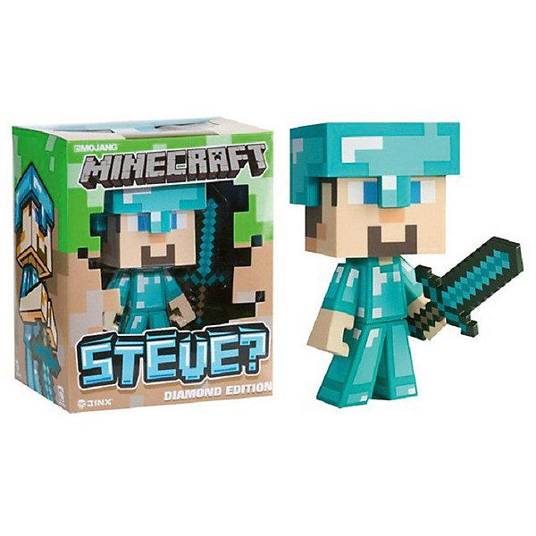 Фигурка Minecraft Steve Diamond ed. пластик 16смКоллекционные фигурки<br>Характеристики товара:<br><br>• возраст: от 3 лет<br>• размер: 16 см<br>• материал: пластик<br>• герой из видеоигры Minecraft<br>• размер упаковки: 18х8х8 см<br><br>Серия игрушек, созданная по мотивам игры Майнкрафт (Minecraft). Фигурка Стива в алмазной броне (Diamond Steve) представляет персонажа знаменитой игры с безграничным миром Майнкрафт. Стив вооружён алмазным мечом и готов встретить все опасности подземелий в добытой алмазной броне! <br><br>Фигурка высотой 16см подвижная, взаимодействует с оружием, а шлем можно снять. В комплект входят меч, шлем и алмазная руда.<br><br>Фигурку Minecraft Steve Diamond ed. пластик 16см можно купить в нашем интернет-магазине.<br>Ширина мм: 200; Глубина мм: 200; Высота мм: 200; Вес г: 300; Возраст от месяцев: 72; Возраст до месяцев: 2147483647; Пол: Мужской; Возраст: Детский; SKU: 7911586;