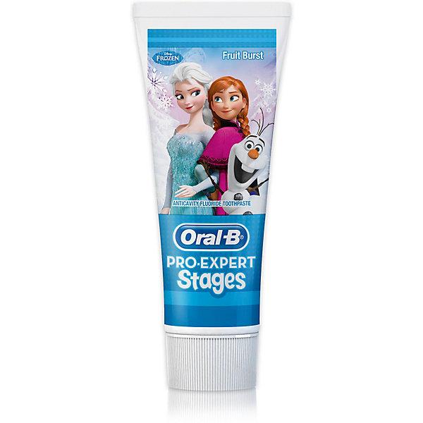 Детская зубная паста Oral-B Pro-Expert DisneyFrozen 75млДетская зубная паста<br>Характеристики:<br><br>• цвет: голубой;<br>• зубная паста для детей старше 3 лет;<br>• мятная формула;<br>• защита от кариеса;<br>• оформление: Холодное сердце;<br>• зубная паста с минимальным содержанием фтора;<br>• объем: 75 мл.<br><br>Гигиена полости рта очень важна для человека в любом возрасте. Зубная паста Oral-B для детей Ягодный взрыв оформлена в стиле Frozen. Фторсодержащая зубная паста содержится в тюбике с крышечкой. Используйте вместе с интерактивным приложением Disney Magic Timer от Oral-B, чтобы помочь своим детям чистить зубы рекомендованые стоматологом 2 минуты.<br><br>Детская зубная паста Oral-B Pro-Expert Disney «Frozen» 75мл можно купить в нашем интернет-магазине.<br>Ширина мм: 53; Глубина мм: 35; Высота мм: 146; Вес г: 103; Цвет: голубой; Возраст от месяцев: 36; Возраст до месяцев: 72; Пол: Унисекс; Возраст: Детский; SKU: 7911654;