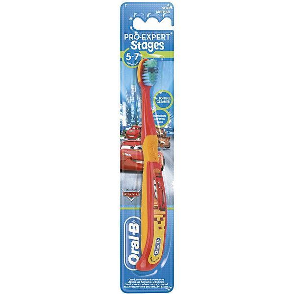 Детская зубная щетка Oral-B Stages 6-7 летЗубные щетки<br>Характеристики:<br><br>• цвет: красный;<br>• зубная щетка разработана для детей 5-7 лет;<br>• очищает труднодоступные задние зубы;<br>• защита и массирование десен;<br>• оформление в стиле Дисней.<br><br>Детская зубная щетка Oral-B разработана для детей 6-7 лет, у которых начинают прорезываться моляры, а некоторые молочные зубы выпадают. Зубная щетка позволяет очищать зубы не только с одной стороны, но и достать задние зубы, охватывает и чистит каждый зуб. Зубная щетка оформлена в стиле Дисней. <br><br>Детская зубная щетка Oral-B Stages 6-7 лет можно купить в нашем интернет-магазине.<br>Ширина мм: 42; Глубина мм: 21; Высота мм: 228; Вес г: 25; Цвет: красный; Возраст от месяцев: 72; Возраст до месяцев: 84; Пол: Унисекс; Возраст: Детский; SKU: 7911668;