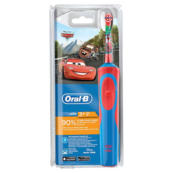 Детская электрическая зубная щетка Oral-B Stages Power CarsЗубные щетки<br>Характеристики:<br><br>• цвет: синий;<br>• электрическая зубная щетка;<br>• аккумуляторная;<br>• технология возвратно-вращательных движений 2D;<br>• режим чувствительной чистки;<br>• 7000 движений в минуту;<br>• встроенный таймер: 2 минуты;<br>• удаление зубного налета;<br>• экстрамягкие щетинки;<br>• бережная чистка полости рта;<br>• оформление: Тачки;<br>• для детей с 3 лет.<br><br>Аккумуляторная зубная щетка совместима со специальным приложением Disney Magic Timer App. Детская зубная щетка сканируется мобильным устройством, на экране оживают герои, изображение появляется в зависимости от длительности чистки зубов. Малыш чистит зубки рекомендованные стоматологом 2 минуты – и тогда видит полностью открытую картинку.  <br><br>Детская электрическая зубная щетка Oral-B Stages Power «Cars» можно купить в нашем интернет-магазине.<br>Ширина мм: 110; Глубина мм: 52; Высота мм: 242; Вес г: 310; Цвет: синий; Возраст от месяцев: 36; Возраст до месяцев: 72; Пол: Унисекс; Возраст: Детский; SKU: 7911688;