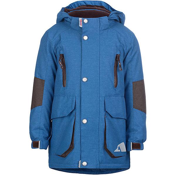 Куртка Леон OLDOS ACTIVE для мальчикаВерхняя одежда<br>Характеристики товара:<br><br>• цвет: синий;<br>• внешняя ткань: 100% полиэстер, покрытие TEFLON, мембрана; <br>• подкладка: флис, 100% полиэстер;<br>• сезон: демисезон;<br>• температурный режим: от -5 до +10;<br>• водонепроницаемость: 3000 мм ;<br>• паропроницаемость: 3000 г/м2/24ч;<br>• застежка: на молнии;<br>• двойная ветрозащитная планка по всей длине молнии с защитой подбородка<br>• съемный капюшон, внутренняя резинка по краям для лучшего прилегания<br>• воротник-стойка с мягкой флисовой подкладкой<br>• резинка сзади по талии <br>• манжеты на резинке регулируемые липучкой<br>• 2 накладных кармана на кнопках снизу и на 2 кармана молнии вверху, внутренний карман на липучке<br>• нашивка-потеряшка<br>• светоотражающие элементы<br>• страна бренда: Россия.<br><br>Утепленная куртка-парка «Леон» для мальчика из мембранной коллекции Росийсского производителя OLDOS ACTIVE - отличный вариант для активных прогулок в межсезонье.  Выполнена в практичном синем цвете, хорошо сидит по фигуре и сочетается с различной одеждой и обувью.<br><br>Верхняя ткань с мембраной 3000/3000 обеспечивает водонепроницаемость, при этом куртка дышит. Покрытие TEFLON повышает износостойкость, а так же облегчает уход за изделием. Гипоаллергенный утеплитель HOLLOFAN PRO 100 г/м2 тоньше обычного, но эффективнее удерживает тепло. Подкладка флис в области груди и спины, плотный полиэстер в рукавах. Куртка прекрасно защитит от непогоды благодаря продуманному функционалу: капюшону, который отстегивается при необходимости,  двойной ветрозащитной планке, манжетам на резинке с клином, который регулируется липучкой, резинке по внутренней стороне талии. Куртка оснащена накладными карманами и карманами на молнии, светоотражающими элементами. Внутри куртки есть потайной карман, который застегивается на липучку, и нашивка-потеряшка. Рекомендовано от минус 5 С до плюс 10 С.<br><br>Утепленную куртку-парку для мальчика «Леон» от бренда OLDOS ACTIVE (Олдос Акти