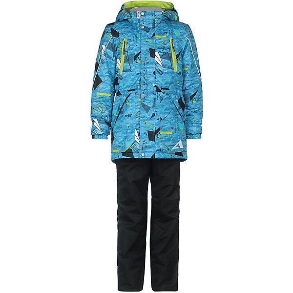 Комплект: куртка и брюки Магнус OLDOS ACTIVE для мальчикаВерхняя одежда<br>Характеристики товара:<br><br>• цвет: голубой/серый;<br>• внешняя ткань: 100% полиэстер, покрытие TEFLON, мембрана; <br>• подкладка - Куртка: флис, 100% полиэстер; Брюки: ворсовое полотно гладкой стороной к телу (100% полиэстер);<br>• сезон: демисезон;<br>• температурный режим: от -5 до +10;<br>• Куртка утепленная на молнии;<br>• Двойная ветрозащитная планка с защитой подбородка;<br>• Съемный капюшон, внутренняя резинка по краям для лучшего прилегания;<br>• Воротник-стойка с мягкой флисовой подкладкой;<br>• Манжеты на резинке;<br>• Резинка по талии;<br>• Накладные карманы с клапаном, карманы на молнии;<br>• Внутренний карман, нашивка-потеряшка;<br>• Светоотражающие элементы;<br>• Брюки без утеплителя, с подкладкой из ворсового полотна, гладкой стороной к телу;<br>• Застежка на молнию и кнопку;<br>• Резинка по талии, пояс с внутренней регулировкой объема талии;<br>• Эластичные, широкие, съемные лямки, регулируемые по длине;<br>• Карманы на молнии;<br>• Усиления внизу брючин в местах особенного износа;<br>• Ветрозащитная муфта с антискользящей резинкой;<br>• Светоотражающие элементы;<br>• страна бренда: Россия.<br><br>Многофунциональный комплект: куртка и брюки «Магнус» для мальчика из мембранной коллекции  OLDOS ACTIVE - отличный вариант для активных прогулок в межсезонье. Ну а модный принт и яркие цвета неприменно понравятся вашему малышу. Комплект хорошо сочетается с различной обувью и аксессуарами, также вещи могут использоваться по отдельности.<br><br>Непромокаемый костюм из плотной мембранной ткани с водо- грязеотталкивающим покрытием из весенней коллекции OLDOS ACTIVE предназначен для носки в непогоду и поможет сохранить тепло и комфорт при температуре до -5 С. В качестве утеплителя в куртке использован холлофан, так же дополнительное тепло придает флисовая подкладка в области груди и спины. Мембранная ткань верха обеспечивает эффективное отведение влаги изнутри, а специальное покрытие T