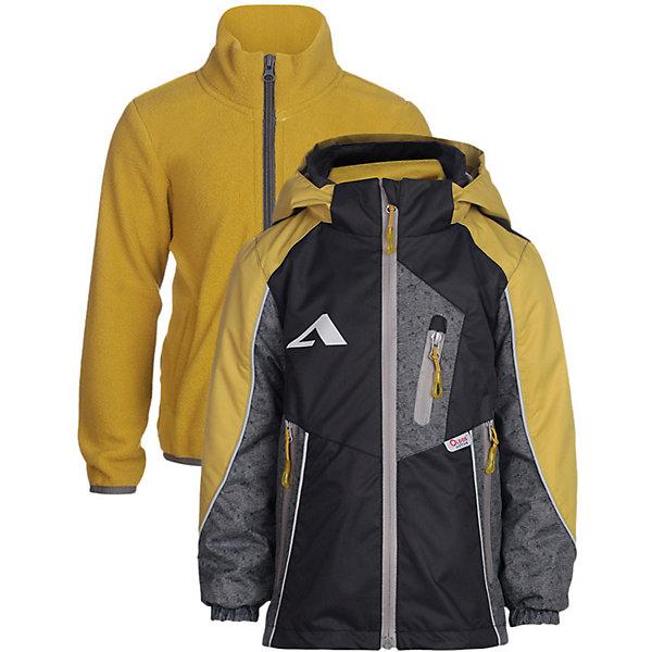 Куртка Динэй OLDOS ACTIVE для мальчикаВерхняя одежда<br>Характеристики товара:<br><br>• цвет: желтый/синий;<br>• внешняя ткань: 100% полиэстер, покрытие TEFLON; <br>• подкладка: флис, 100% полиэстер;<br>• водонепроницаемость: 3000 мм;<br>• паропроницаемость: 3000 г/м2/24ч;<br>• сезон: демисезон;<br>• температурный режим: от +10 до +20;<br>• застежка: на молнии;<br>• съемный капюшон, внутренняя резинка по краям для лучшего прилегания<br>• внутренняя ветрозащитная планка с защитой подбородка от прищемления;<br>• резинка сзади по талии <br>• манжеты на резинке;<br>• 2 боковых кармана;<br>• нашивка-потеряшка;<br>• светоотражающие элементы;<br>• страна бренда: Россия.<br><br>Куртка «Динэй» для мальчика - функциональная, практичная куртка 3 в 1 из мембранной коллекции OLDOS ACTIVE. Отличный вариант для активных прогулок в прохладное время года.  Выполнена в универсальной комбинации цветов, хорошо сидит по фигуре и сочетается с различной одеждой и обувью.<br><br>Верхняя ткань с мембраной обеспечивает водонепроницаемость, при этом одежда дышит. Покрытие TEFLON повышает износостойкость, а так же облегчает уход. Куртка прекрасно защитит от непогоды благодаря продуманному функционалу: капюшону, который отстегивается при необходимости, манжетам на резинке, регулируемой утяжке по низу. Флисовая подстежка отстегивается и ее можно носить как самостоятельную флисовую кофту: она изготовлена из флиса с двумя карманами и воротником-стойкой. Так же куртка оснащена карманами на молнии, светоотражающими элементами. Внутри есть нашивка-потеряшка.<br><br>Куртку 3 в 1 «Динэй» для мальчика от бренда OLDOS ACTIVE (Олдос Актив) можно купить в нашем интернет-магазине.<br>Ширина мм: 356; Глубина мм: 10; Высота мм: 245; Вес г: 519; Цвет: желтый; Возраст от месяцев: 18; Возраст до месяцев: 24; Пол: Мужской; Возраст: Детский; Размер: 92,152,146,140,134,128,122,116,110,104,98; SKU: 7913168;