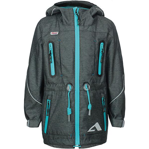Куртка Эрагон OLDOS ACTIVE для мальчикаВерхняя одежда<br>Характеристики товара:<br><br>• цвет: темно-серый;<br>• внешняя ткань: 100% полиэстер, покрытие TEFLON, мембрана; <br>• подкладка: флис, 100% полиэстер;<br>• сезон: демисезон;<br>• температурный режим: от +10 до +20;<br>• водонепроницаемость: 3000 мм ;<br>• паропроницаемость: 3000 г/м2/24ч;<br>• застежка: на молнии;<br>• двойная ветрозащитная планка по всей длине молнии с защитой подбородка<br>• съемный капюшон, внутренняя резинка по краям для лучшего прилегания<br>• воротник-стойка с мягкой флисовой подкладкой<br>• резинка сзади по талии <br>• манжеты на резинке регулируемые липучкой<br>• 2 накладных кармана на кнопках снизу и на 2 кармана молнии вверху, внутренний карман на липучке<br>• нашивка-потеряшка<br>• светоотражающие элементы<br>• страна бренда: Россия.<br><br>Утепленная куртка-парка «Эрагон» для мальчика из мембранной коллекции Росийсского производителя OLDOS ACTIVE - отличный вариант для активных прогулок в межсезонье.  Выполнена в практичном сером цвете, дополнена контрастной молнией и нашивками, хорошо сидит по фигуре и сочетается с различной одеждой и обувью.<br><br>Верхняя ткань с мембраной 3000/3000 обеспечивает водонепроницаемость, при этом ветровка дышит. Покрытие TEFLON повышает износостойкость, а так же облегчает уход за ветровкой. Подкладка - флис, в области груди и спины, плотный полиэстер в рукавах. <br><br>Такая ветровка прекрасно защитит от непогоды благодаря продуманному функционалу: капюшону с внутренней резинкой по краям для лучшего прилегания, ветрозащитной планке по всей длине молнии с защитой подбородка, манжетам на резинке с клином, который регулируется липучкой и внешней регулировке по талии. Ветровка оснащена карманами на молнии и светоотражающими элементами. Внутри ветровки есть потайной карман, который застегивается на липучку и нашивка-потеряшка. <br><br>Утепленную куртку-парку для мальчика «Эрагон» от бренда OLDOS ACTIVE (Олдос Актив) можно купить в нашем интернет-магазин