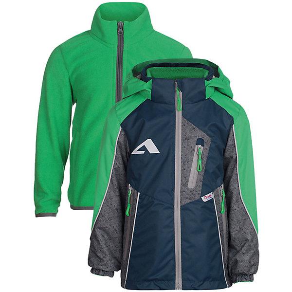 Куртка Динэй OLDOS ACTIVE для мальчикаВерхняя одежда<br>Характеристики товара:<br><br>• цвет: зеленый/синий;<br>• внешняя ткань: 100% полиэстер, покрытие TEFLON; <br>• подкладка: флис, 100% полиэстер;<br>• водонепроницаемость: 3000 мм;<br>• паропроницаемость: 3000 г/м2/24ч;<br>• сезон: демисезон;<br>• температурный режим: от +10 до +20;<br>• застежка: на молнии;<br>• съемный капюшон, внутренняя резинка по краям для лучшего прилегания<br>• внутренняя ветрозащитная планка с защитой подбородка от прищемления;<br>• резинка сзади по талии <br>• манжеты на резинке;<br>• 2 боковых кармана;<br>• нашивка-потеряшка;<br>• светоотражающие элементы;<br>• страна бренда: Россия.<br><br>Куртка «Динэй» для мальчика - функциональная, практичная куртка 3 в 1 из мембранной коллекции OLDOS ACTIVE. Отличный вариант для активных прогулок в прохладное время года.  Выполнена в универсальной комбинации цветов, хорошо сидит по фигуре и сочетается с различной одеждой и обувью.<br><br>Верхняя ткань с мембраной обеспечивает водонепроницаемость, при этом одежда дышит. Покрытие TEFLON повышает износостойкость, а так же облегчает уход. Куртка прекрасно защитит от непогоды благодаря продуманному функционалу: капюшону, который отстегивается при необходимости, манжетам на резинке, регулируемой утяжке по низу. Флисовая подстежка отстегивается и ее можно носить как самостоятельную флисовую кофту: она изготовлена из флиса с двумя карманами и воротником-стойкой. Так же куртка оснащена карманами на молнии, светоотражающими элементами. Внутри есть нашивка-потеряшка.<br><br>Куртку 3 в 1 «Динэй» для мальчика от бренда OLDOS ACTIVE (Олдос Актив) можно купить в нашем интернет-магазине.<br>Ширина мм: 356; Глубина мм: 10; Высота мм: 245; Вес г: 519; Цвет: зеленый; Возраст от месяцев: 18; Возраст до месяцев: 24; Пол: Мужской; Возраст: Детский; Размер: 146,134,128,122,116,110,104,98,92; SKU: 7913302;