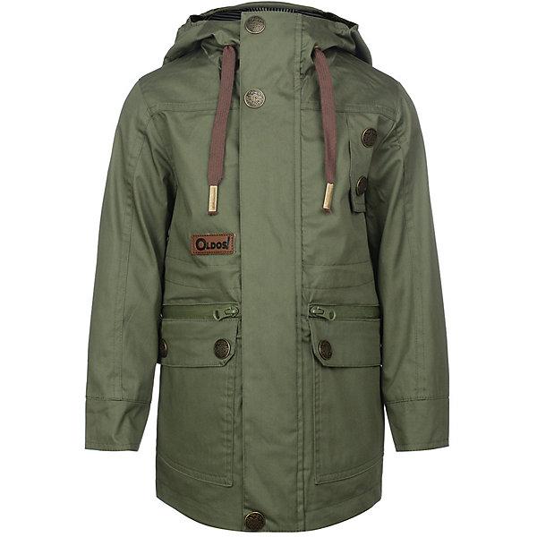 Куртка Конн OLDOS для мальчикаВерхняя одежда<br>Характеристики товара:<br><br>• цвет: хаки;<br>• внешняя ткань: 100% полиэстер, пропитки PU+WR; <br>• подкладка: принтованная бязь (65% п/э, 35% х/б);<br>• сезон: демисезон;<br>• температурный режим: от +10 до +20;<br>• застежка: на молнии, на кнопках, на липучках;<br>• не съемный капюшон, с утяжкой на шнурке;<br>• внутренняя ветрозащитная планка с защитой подбородка от прищемления;<br>• регулируемая талия;<br>• манжеты на кнопках;<br>• врезные карманы на молнии;<br>• нашивка-потеряшка;<br>• светоотражающие элементы;<br>• страна бренда: Россия.<br><br>Модная и стильная ветровка «Конн» для мальчика от OLDOS с водо- и грязеотталкивающими пропитками - прекрасное дополнение к любому гардеробу! Идеальна для ношения в прохладные весенние деньки. Выполнена в красивом оливковом цвете с принтовыми нашивками, хорошо сидит по фигуре и сочетается с различной одеждой и обувью.<br><br>Внешняя ткань с водо-грязеотталкивающей пропиткой защищает от ветра и дождя. По талии есть внутренняя регулировка. В этой модели два типа карманов: накладные карманы с клапаном на кнопке и врезные карманы на молнии. Контрастная подкладка из бязи приятна на ощупь, что придаёт дополнительный комфорт. Снабжена светоотражающими элементами. <br><br>Куртку-ветровку для мальчика «Конн» от бренда OLDOS (Олдос) можно купить в нашем интернет-магазине.<br>Ширина мм: 356; Глубина мм: 10; Высота мм: 245; Вес г: 519; Цвет: хаки; Возраст от месяцев: 48; Возраст до месяцев: 60; Пол: Мужской; Возраст: Детский; Размер: 110,116,122,128,134,140,98,104; SKU: 7913371;