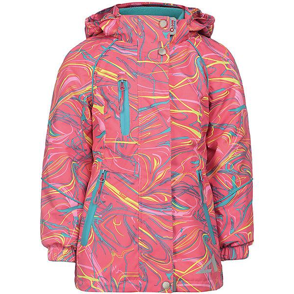 Куртка Иона OLDOS ACTIVE для девочкиВерхняя одежда<br>Характеристики товара:<br><br>• цвет:  розовый;<br>• внешняя ткань: 100% полиэстер, покрытие TEFLON; <br>• подкладка: флис, 100% полиэстер;<br>• водонепроницаемость: 3000 мм;<br>• паропроницаемость: 3000 г/м2/24ч;<br>• сезон: демисезон;<br>• температурный режим: от +10 до +20;<br>• подстежка: флисовая кофта;<br>• застежка: на молнии;<br>• съемный капюшон, внутренняя резинка по краям для лучшего прилегания<br>• внутренняя ветрозащитная планка с защитой подбородка от прищемления;<br>• резинка сзади по талии <br>• манжеты на резинке;<br>• 2 боковых кармана;<br>• нашивка-потеряшка;<br>• светоотражающие элементы;<br>• страна бренда: Россия.<br><br>Куртка «Иона» для девочки - функциональная, практичная куртка 3 в 1 из мембранной коллекции OLDOS ACTIVE. Отличный вариант для активных прогулок в прохладное время и межсезонье.  Выполнена в красивом розовом цвете с оригинальным принтом, хорошо сидит по фигуре и сочетается с различной одеждой и обувью.<br><br>Верхняя ткань с мембраной обеспечивает водонепроницаемость, при этом одежда дышит. Покрытие TEFLON повышает износостойкость, а так же облегчает уход. Куртка прекрасно защитит от непогоды благодаря продуманному функционалу: капюшону, который отстегивается при необходимости, манжетам на резинке, регулируемой утяжке по низу. Флисовая подстежка отстегивается и ее можно носить как самостоятельную флисовую кофту: она изготовлена из флиса с двумя карманами и воротником-стойкой. Так же куртка оснащена карманами на молнии, светоотражающими элементами. Внутри есть нашивка-потеряшка.<br><br>Куртку 3 в 1 «Иона» для девочки от бренда OLDOS ACTIVE (Олдос Актив) можно купить в нашем интернет-магазине.<br>Ширина мм: 356; Глубина мм: 10; Высота мм: 245; Вес г: 519; Цвет: розовый; Возраст от месяцев: 12; Возраст до месяцев: 18; Пол: Женский; Возраст: Детский; Размер: 86,116,110,104,98,92; SKU: 7913398;