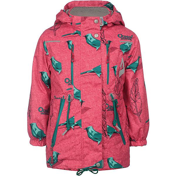 Куртка Рэйна OLDOS ACTIVE для девочкиВерхняя одежда<br>Характеристики товара:<br><br>• цвет: розовый/принт;<br>• внешняя ткань: 100% полиэстер, покрытие TEFLON, мембрана; <br>• подкладка: флис, 100% полиэстер;<br>• сезон: демисезон;<br>• температурный режим: от +10 до +20;<br>• водонепроницаемость: 3000 мм ;<br>• паропроницаемость: 3000 г/м2/24ч;<br>• застежка: на молнии;<br>• двойная ветрозащитная планка по всей длине молнии с защитой подбородка<br>• съемный капюшон, внутренняя резинка по краям для лучшего прилегания<br>• воротник-стойка с мягкой флисовой подкладкой<br>• резинка сзади по талии <br>• манжеты на резинке регулируемые липучкой<br>• 2 накладных кармана на кнопках снизу и на 2 кармана молнии вверху, внутренний карман на липучке<br>• нашивка-потеряшка<br>• светоотражающие элементы<br>• страна бренда: Россия.<br><br>Утепленная куртка-парка «Рэйна» для девочки из мембранной коллекции Росийсского производителя OLDOS ACTIVE - отличный вариант для активных прогулок в межсезонье.  Выполнена в нежном розовом цвете с веселым контрастным принтом, хорошо сидит по фигуре и сочетается с различной одеждой и обувью.<br><br>Верхняя ткань с мембраной 3000/3000 обеспечивает водонепроницаемость, при этом ветровка дышит. Покрытие TEFLON повышает износостойкость, а так же облегчает уход за ветровкой. Подкладка - флис, в области груди и спины, плотный полиэстер в рукавах. <br><br>Такая ветровка прекрасно защитит от непогоды благодаря продуманному функционалу: капюшону с внутренней резинкой по краям для лучшего прилегания, ветрозащитной планке по всей длине молнии с защитой подбородка, манжетам на резинке с клином, который регулируется липучкой и внешней регулировке по талии. Ветровка оснащена карманами на молнии и светоотражающими элементами. Внутри куртки есть потайной карман, который застегивается на липучку и нашивка-потеряшка. <br><br>Утепленную куртку-парку «Рэйна» для девочки  от бренда OLDOS ACTIVE (Олдос Актив) можно купить в нашем интернет-магазине.<br>Ширина мм: 356