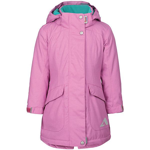 Плащ Теона OLDOS ACTIVE для девочкиВерхняя одежда<br>Характеристики товара:<br><br>• цвет: розовый;<br>• внешняя ткань: 100% полиэстер, покрытие TEFLON, мембрана; <br>• подкладка: флис, 100% полиэстер;<br>• утеплитель: HOLLOFAN PRO 100 г/м2<br>• сезон: демисезон;<br>• температурный режим: от -5 до +10;<br>• водонепроницаемость: 3000 мм ;<br>• паропроницаемость: 3000 г/м2/24ч;<br>• застежка: на молнии;<br>• двойная ветрозащитная планка по всей длине молнии с защитой подбородка<br>• съемный капюшон, внутренняя резинка по краям для лучшего прилегания<br>• воротник-стойка с мягкой флисовой подкладкой<br>• резинка сзади по талии <br>• манжеты на резинке регулируемые липучкой<br>• 2 накладных кармана на кнопках снизу и на 2 кармана молнии вверху, внутренний карман на липучке<br>• нашивка-потеряшка<br>• светоотражающие элементы<br>• страна бренда: Россия.<br><br>Утепленный плащ «Теона» для девочки из мембранной коллекции Росийсского производителя OLDOS ACTIVE - отличный вариант для школы и прогулок в межсезонье.  Выполнен в ярком цвете, дополнен контрастной флисовой подкладкой, хорошо сидит по фигуре и сочетается с различной одеждой и обувью.<br><br>Верхняя ткань с мембраной 3000/3000 обеспечивает водонепроницаемость, при этом одежда дышит. Покрытие TEFLON повышает износостойкость, а так же облегчает уход за изделием. Гипоаллергенный утеплитель HOLLOFAN PRO 100 г/м2 тоньше обычного, но эффективнее удерживает тепло. Подкладка флис в области груди и спины, полиэстер - в рукавах. <br><br>Плащ прекрасно защитит от непогоды благодаря продуманному функционалу: капюшону, который отстегивается при необходимости,  двойной ветрозащитной планке, манжетам на резинке с клином, который регулируется липучкой, внутренней регулировке по талии. Так же плащ оснащен карманами с клапанами и светоотражающими элементами. Внутри плаща есть нашивка-потеряшка. <br><br>Утепленный плащ «Теона» для девочки от бренда OLDOS ACTIVE (Олдос Актив) можно купить в нашем интернет-магазине.<br>Ширина мм: 356; 