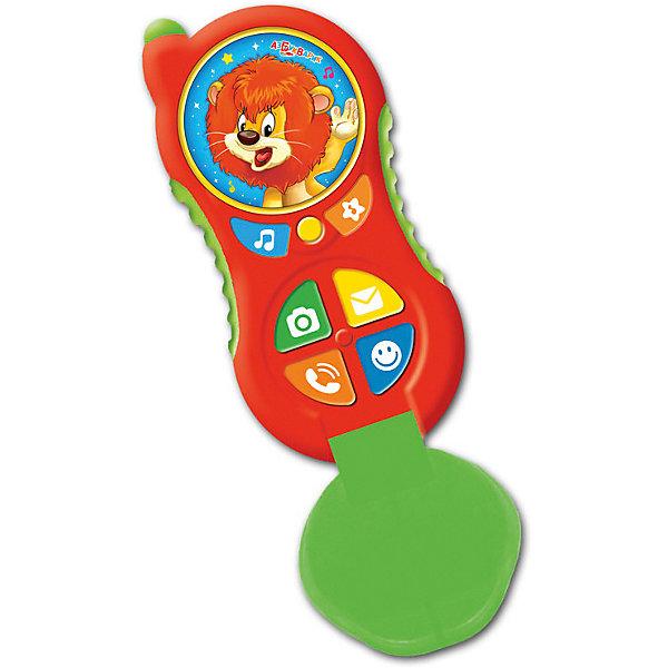 Телефончик Азбукварик  ЛьвенокДетские гаджеты<br>Характеристики:<br><br>• тип игрушки: телефон;<br>• возраст: от 2 лет;<br>• материал: пластик;<br>• тип батареек: ААА;<br>• наличие батареек: в комплект не входят;<br>• цвет:  красный; <br>• вес: 115 гр;<br>• размер: 45х45х22 см;<br>• бренд: Азбукварик.<br><br>Телефончик Азбукварик «Львенок»  надолго займёт внимание малыша! В этом ярком телефончике малышей ждут 3 песенки («Песня Львёнка и Черепахи», «Здравствуй, детство!», «Песенка о лете»), 3 мелодии («Арам зам зам», «Чунга-чанга», «Если нравится тебе, то делай так») и 10 забавных звуков ждут малышей в красочном светящемся телефончике!<br><br>Телефончик Азбукварик «Львенок» можно купить в нашем интернет-магазине.<br>Ширина мм: 450; Глубина мм: 450; Высота мм: 220; Вес г: 115; Цвет: красный; Возраст от месяцев: 24; Возраст до месяцев: 48; Пол: Унисекс; Возраст: Детский; SKU: 7920337;