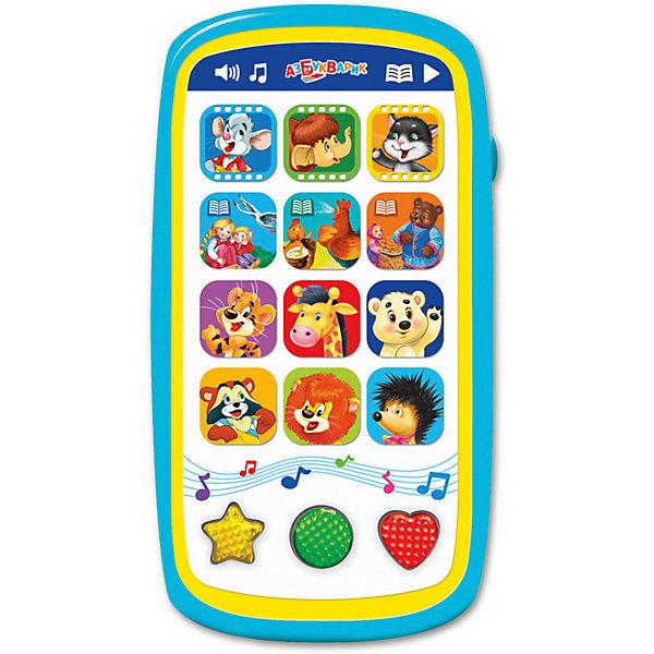 Мультиплеер Азбукварик Мультики и сказки с огонькамиДетские гаджеты<br>Характеристики:<br><br>• тип игрушки: плеер;<br>• возраст: от 2 лет;<br>• материал: пластик;<br>• тип батареек: 3 х ААА / LR.3 1.5V;<br>• наличие батареек:  входят в комплект;<br>• цвет:  желтый; <br>• вес: 140 гр;<br>• размер: 13,2х17х22,5 см;<br>• бренд: Азбукварик.<br><br>Мультиплеер Азбукварик «Мультики и сказки» с огоньками содержит 30 весёлых песенок и мелодий – в новом мультиплеере («Песенка Умки», «Когда мои друзья со мной», «Почему медведь зимой спит», «По дороге с облаками» и др.). Пой с Умкой и другими мультяшками, танцуй под любимые хиты – развивай свои таланты. Разноцветные огоньки на фигурных кнопочках мигают под музыку!<br><br>Мультиплеер Азбукварик «Мультики и сказки» с огоньками можно купить в нашем интернет-магазине.<br>Ширина мм: 132; Глубина мм: 170; Высота мм: 225; Вес г: 140; Цвет: зеленый; Возраст от месяцев: 24; Возраст до месяцев: 48; Пол: Унисекс; Возраст: Детский; SKU: 7920363;