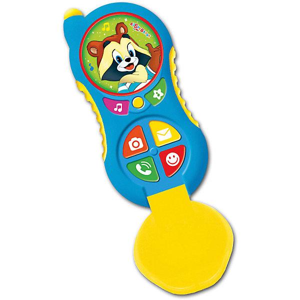 Телефончик Азбукварик Крошка ЕнотДетские гаджеты<br>Характеристики:<br><br>• тип игрушки: телефон;<br>• возраст: от 2 лет;<br>• материал: пластик;<br>• тип батареек: ААА;<br>• наличие батареек: в комплект не входят;<br>• цвет:  салатовый; <br>• вес: 115 гр;<br>• размер: 45х22х13 см;<br>• бренд: Азбукварик.<br><br>Телефончик Азбукварик «Крошка Енот» предназначен для развития внимания, стимуляции речевых навыков. Забавные герои споют вместе с вашим малышом добрые песенки и почитают сказки. Эта интересная и занимательная игрушка способна не только стать прекрасным занятием для ребенка, она будет способствовать развитию его творческих способностей и станет гарантом хорошего настроения. <br><br>Игрушка изготовлена из яркого пластика, ведь что может привлечь внимание ребенка еще лучше, чем красочная игрушка с забавными картинками? Азбукварик Крошка Енот 4680019280189 так удобно носить с собой!  Теперь любимые герои всегда будут рядом и порадуют малыша знакомыми песенками («Улыбка», «Облака», «Чунга-чанга»), весёлыми мелодиями («Танец маленьких утят», «Собачий вальс», «Арам-зам-зам») и забавными звуками. <br><br>Телефончик Азбукварик «Крошка Енот» можно купить в нашем интернет-магазине.<br>Ширина мм: 130; Глубина мм: 450; Высота мм: 220; Вес г: 115; Цвет: синий; Возраст от месяцев: 24; Возраст до месяцев: 48; Пол: Унисекс; Возраст: Детский; SKU: 7920371;