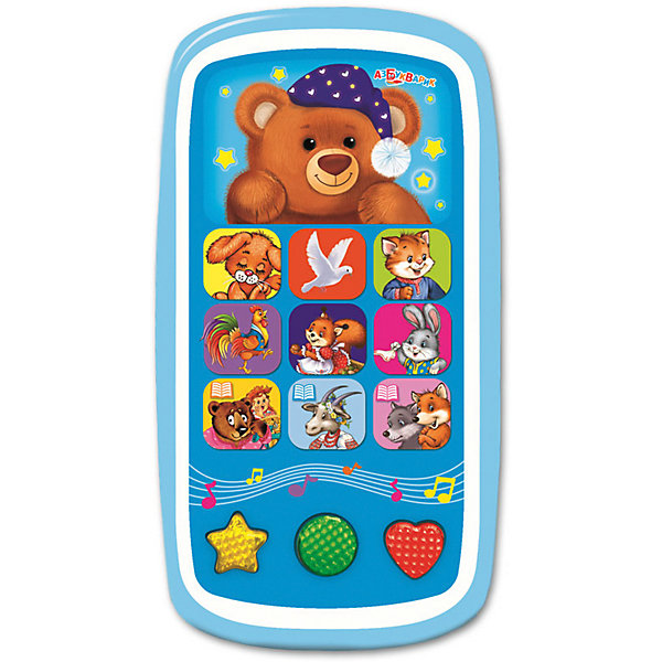 Мультиплеер Азбукварик Спокойной ночи,Мишутка!Детские гаджеты<br>Характеристики:<br><br>• тип игрушки: мультиплеер;<br>• возраст: от 2 лет;<br>• материал: пластик, металл;<br>• тип батареек: 3 х AAA / LR0.3 1.5V;<br>• наличие батареек: не входят в комплект;<br>• цвет:  голубой; <br>• вес: 140 гр;<br>• размер: 22,5х13,2х17 см;<br>• страна бренда: Россия;<br>• бренд: Азбукварик.<br><br>Мультиплеер Азбукварик «Спокойной ночи,Мишутка!» позволит ребенку весело и увлекательно провести свое время. В памяти звукового модуля игрушки записаны двенадцать известных детских песен, шесть популярных сказок и шесть колыбельных песен, чтобы малыш мог спокойно заснуть. Также мультиплеер оснащен световыми эффектами, у него мигают яркие огоньки. Игрушка станет хорошим развлечением для ребенка.<br><br>Мультиплеер Азбукварик «Спокойной ночи,Мишутка!» можно купить в нашем интернет-магазине.<br>Ширина мм: 132; Глубина мм: 170; Высота мм: 225; Вес г: 140; Цвет: синий; Возраст от месяцев: 24; Возраст до месяцев: 48; Пол: Унисекс; Возраст: Детский; SKU: 7920373;