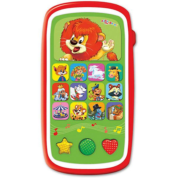 Мультиплеер Азбукварик Вот так сюрприз! с огонькамиДетские гаджеты<br>Характеристики:<br><br>• тип игрушки: плеер;<br>• возраст: от 2 лет;<br>• материал: пластик;<br>• тип батареек: 3 х ААА / LR.3 1.5V;<br>• наличие батареек:  входят в комплект;<br>• цвет:  красный; <br>• вес: 140 гр;<br>• размер: 13,2х17х22,5 см;<br>• бренд: Азбукварик.<br><br>Мультиплеер Азбукварик «Вот так сюрприз!» с огоньками способна надолго завладеть вниманием девочек и мальчиков. Игрушечный мультиплеер с огоньками выполнен в интересном дизайне и снабжен изображениями героев любимых анимационных фильмов.<br><br>На экране игрушки содержится изображение львенка из известного мультика - если ребенок нажмет на него, он сможет прослушать свыше двадцати песен, шесть мелодий и множество забавных звуков. Во время исполнения песен включается подсветка экрана. Если просканировать код, расположенный на задней стороне упаковки, на игрушечный аппарат можно будет установить приложение «Караоке».<br><br>Мультиплеер Азбукварик «Вот так сюрприз!» с огоньками можно купить в нашем интернет-магазине.<br>Ширина мм: 132; Глубина мм: 170; Высота мм: 225; Вес г: 140; Цвет: красный; Возраст от месяцев: 24; Возраст до месяцев: 48; Пол: Унисекс; Возраст: Детский; SKU: 7920383;