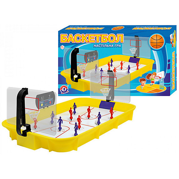 Детская настольная игра ТехноК Баскетбол ТехноКНастольные игры для всей семьи<br>Характеристики:<br><br>• тип игрушки: настольная игра;<br>• возраст: от 6 лет;<br>• материал: пластик;<br>• комплектация: игровое поле, 2 команды игроков (по 5), съемные баскетбольные корзины (в разобранном виде), 2 мяча, табло;<br>• количество игроков: 10;<br>• вес: 1,2 кг;<br>• размер: 52х31х7,5 см;<br>• бренд: ТехноК.<br><br>Детская настольная игра ТехноК «Баскетбол ТехноК» - настольная версия одной из самых популярных спортивных игр. Игра рассчитана на 2 игроков. Каждый игрок управляет игроками одной команды. Цель игры: забить противнику как можно больше мячей в корзину. Точный пас, результативный удар- и мяч в корзине у противника. Кто самый сильный? Кто самый меткий? Кто самый быстрый? Ответы на эти вопросы ты узнаешь прямо сейчас, не выходя из домa.<br><br>Детскую настольную игру  ТехноК «Баскетбол ТехноК» можно купить в нашем интернет-магазине.<br>Ширина мм: 520; Глубина мм: 310; Высота мм: 75; Вес г: 1191; Возраст от месяцев: 72; Возраст до месяцев: 168; Пол: Мужской; Возраст: Детский; SKU: 7920654;