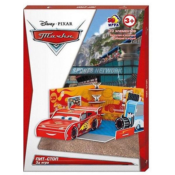 Игра настольно-печатная Disney Пит-стопТачки<br>Характеристики:<br><br>• тип игрушки: настольная игра;<br>• возраст: от 3 лет;<br>• материал: пластик;<br>• комплектация: 39 деталей;<br>• вес: 160 гр;<br>• размер: 1,4х20,8х29 см;<br>• бренд: Disney.<br><br>Игра настольно-печатная Disney «Пит-стоп» создана по мотивам знаменитого мультфильма «Тачки», который так нравится всем мальчишкам. Им следует собрать Молнию Маккуина и его друга Гвидо, чтобы они подготовились к победной гонке.<br><br>Игру настольно-печатную Disney «Пит-стоп» можно купить в нашем интернет-магазине.<br>Ширина мм: 14; Глубина мм: 208; Высота мм: 290; Вес г: 160; Возраст от месяцев: 36; Возраст до месяцев: 84; Пол: Унисекс; Возраст: Детский; SKU: 7920658;