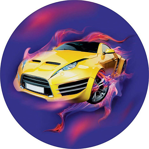 Купить Мяч Dema-Stil «Машинка», 23 см, Македония, фиолетовый, Унисекс