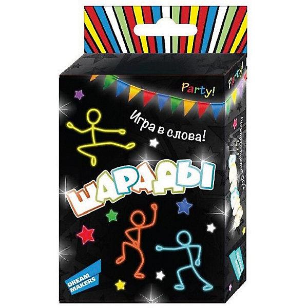 Игра детская настольная Dream Makers Шарады. CardsНастольные игры для всей семьи<br>Характеристики:<br><br>• тип игрушки: настольная игра;<br>• возраст: от 10 лет;<br>• материал: картон;<br>• количество игроков: 2-5;<br>• время игры: 30 мин;<br>• комплектация:  30 карточек, правила игры;<br>• вес: 80 гр;<br>• размер: 8,8х5,9х1,2 см;<br>• бренд: Dream Makers.<br><br>Игра детская настольная Dream Makers «Шарады. Cards»  - это весёлая игра на объяснение слов, которая будет одинаково интересна как детям, так и взрослым. Задача игроков проста - при помощи синонимов объяснить слово на карточке так, чтобы остальные игроки смогли его назвать. Играть можно как большой компанией, так и вдвоём, и втроём.<br><br>Игру детскую настольную Dream Makers «Шарады. Cards» можно купить в нашем интернет-магазине.<br>Ширина мм: 88; Глубина мм: 59; Высота мм: 12; Вес г: 80; Возраст от месяцев: 120; Возраст до месяцев: 168; Пол: Унисекс; Возраст: Детский; SKU: 7920722;