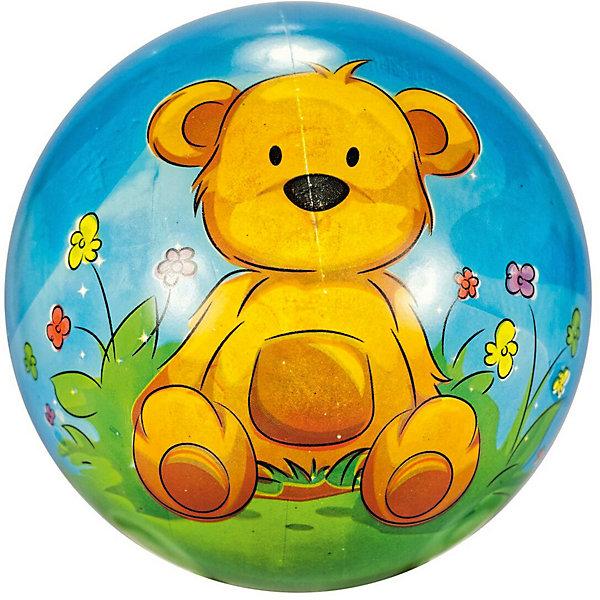 Купить Мяч Dema-Stil Мишка , 23 см, Македония, коричнево-синий, Унисекс