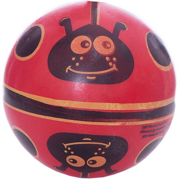 Купить Мяч Dema-Stil Божья коровка на поле , 14 см, Македония, черный/розовый, Унисекс