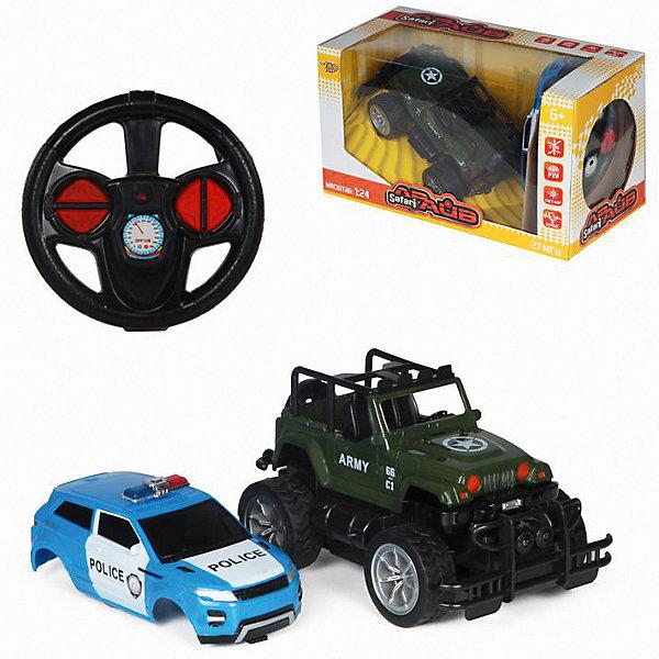 Радиоуправляемая машина Yako Toys, в ассортиментеРадиоуправляемые машины<br>Характеристики:<br><br>• тип игрушки: машина;<br>• возраст: от 3 лет;<br>• материал: пластик;<br>• комплектация: машинка, сменный корпус, пульт управления;<br>• масштаб: 1:24; <br>• тип батареек: 2хАА, в пульт и 4хАА;<br>• наличие батареек: в комплект не входят;<br>• цвет: в ассортименте; <br>• вес: 740 гр;<br>• размер: 30х17х15 см;<br>• бренд: Yako.<br><br>Машина на р/у Yako со сменным корпусом с мощными прорезиненными колесами имеет невероятно крутой вид. Управление игрушкой происходит при помощи пульта на батарейках.  Движение: веред-назад, влево-вправо. Свет фар. Смените корпус и перед вами окажется другая машинка, готовая к новым приключениям.<br><br>Машину на р/у Yako со сменным корпусом можно купить в нашем интернет-магазине.<br>Ширина мм: 300; Глубина мм: 170; Высота мм: 150; Вес г: 740; Цвет: разноцветный; Возраст от месяцев: 36; Возраст до месяцев: 6; Пол: Мужской; Возраст: Детский; SKU: 7920732;