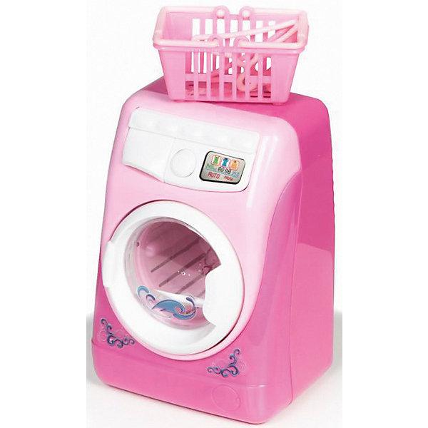 Стиральная машина Yako Toys, розоваяИгрушечная бытовая техника<br>Характеристики:<br><br>• тип игрушки: бытовая техника;<br>• возраст: от 3 лет;<br>• материал: пластик;<br>• цвет: розовый; <br>• тип батареек: 2хАА 1,5V;<br>• наличие батареек: в комплект не входят;<br>• вес: 373 гр;<br>• размер:10х17х20 см;<br>• бренд: Yako.<br><br>Бытовая техника Yako стимулирует воображение, способствует интеллектуальному развитию и разрабатывает мелкую моторику.  Эти замечательные игрушки позволяют детям освоить домашнюю работу через игру. В данном наборе идут стиральная машина , корзина для белья и 2 вешалки.<br>Ваша дочка сможет сама стирать и сушить одежду своих кукол. Имитация воды в стиральном барабане. Есть световые и звуковые эффекты.<br><br>Бытовая техника Yako можно купить в нашем интернет-магазине.<br>Ширина мм: 100; Глубина мм: 170; Высота мм: 200; Вес г: 373; Цвет: розовый/розовый; Возраст от месяцев: 36; Возраст до месяцев: 6; Пол: Женский; Возраст: Детский; SKU: 7920748;