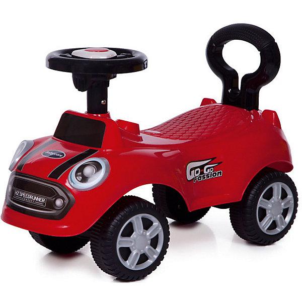 Каталка детская Baby Care Speedrunner красныйМашинки-каталки<br>Baby Care Speedrunner- суперлёгкая и очень надежная каталка. Машинка выполнена таким образом, чтобы быть максимально безопасной для малыша. У нее отсутствуют острые углы. Поворотный руль с кнопкой-пищалкой.• Размер каталки: длина 52см, ширина 25см, высота 36см.• Вес: 1.2 кг.• Максимальная нагрузка: 25 кг.<br>• Размер колёс: 12см.<br>Ширина мм: 520; Глубина мм: 250; Высота мм: 190; Вес г: 1600; Цвет: красный; Возраст от месяцев: 12; Возраст до месяцев: 24; Пол: Унисекс; Возраст: Детский; SKU: 7922716;