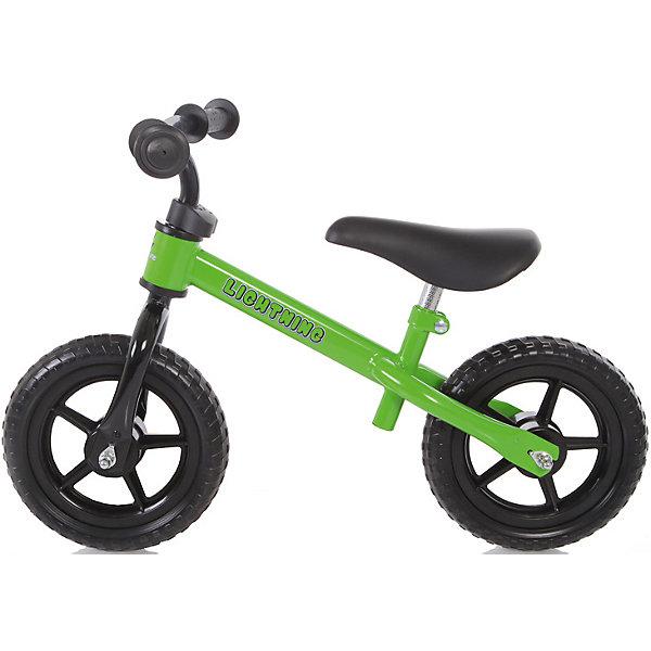 Самокат-беговел детский Baby Care Lightning зеленыйБеговелы<br>Характеристики:<br><br>• возраст: от 2 лет;<br>• материал: пластик EVA, металл;<br>• цвет: зеленый;<br>• допустимый вес: 25 кг;<br>• высота сиденья: 34-42 см;<br>• вес: 3,2 кг;<br>• размер: 61х27х17 см;<br>• бренд: Baby Care Fivity.<br><br>Самокат-беговел детский Baby Care Lightning зеленыйвыполнен в насыщенном, красной цвете. Он представляет собой устройство, передвигающееся на двух небольших колесах и управляемое посредством руля.<br><br>Внешне данный беговел похож на уменьшенную модель велосипеда, но в отличие от него, он не оснащен педалями. В движение устройство приводится путем отталкивания ногами от поверхности земли, как при катании на самокате. Благодаря этому данное устройство и получило такое необычное название.<br><br>Модель «Lightning» является универсальной и имеет несколько возможных регулировок руля и сиденья, благодаря чему данный беговел можно использовать с двухлетнего возраста и вплоть до 6 лет. Главное, чтобы нагрузка на него не превышала 25 кг. Высокая надежность конструкции обусловлена наличием металлической рамы, а хорошая амортизация достигается за счет использования особо прочных подшипников, также изготовленных из металла, и цельнолитых колес.<br><br>Самокат-беговел детский Baby Care Lightning зеленый можно купить в нашем интернет-магазине.<br>Ширина мм: 610; Глубина мм: 270; Высота мм: 170; Вес г: 3200; Цвет: зеленый; Возраст от месяцев: 24; Возраст до месяцев: 72; Пол: Унисекс; Возраст: Детский; SKU: 7922720;