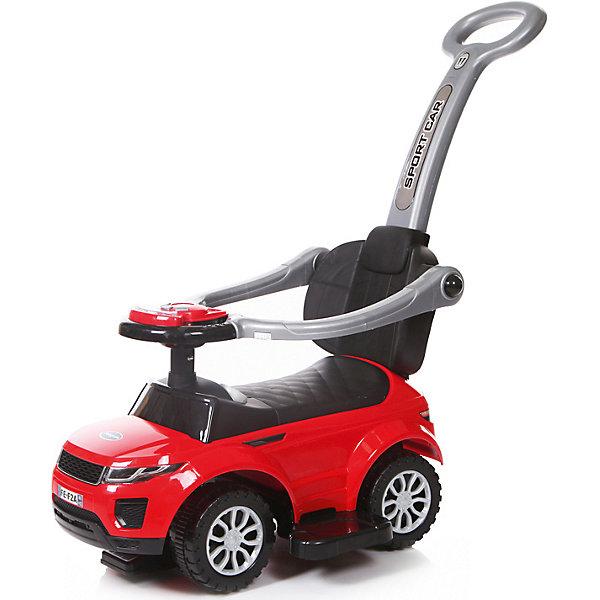 Каталка детская Baby Care Sport car красныйКаталки для малышей<br>Характеристики:<br><br>• возраст: от 1,5 лет;<br>• материал: пластик EVA;<br>• цвет: красный;<br>• допустимый вес: 27 кг;<br>• размер колес: 15 см;<br>• вес: 4 кг;<br>• размер: 63х36х31 см;<br>• бренд: Baby Care Fivity.<br><br>Каталка детская Baby Care Sport car красная - суперлёгкая и очень надежная каталка. Машинка выполнена таким образом, чтобы быть максимально безопасной для малыша. У нее отсутствуют острые углы. Есть поворотный руль со звуковыми эффектами.<br><br>Каталку детскую Baby Care Sport car красную можно купить в нашем интернет-магазине.<br>Ширина мм: 630; Глубина мм: 360; Высота мм: 310; Вес г: 4000; Цвет: красный; Возраст от месяцев: 12; Возраст до месяцев: 24; Пол: Унисекс; Возраст: Детский; SKU: 7922730;