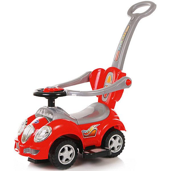 Каталка детская Baby Care Cute Car красныйМашинки-каталки<br>Baby Care Cute Car - суперлёгкая и очень надежная каталка. Машинка выполнена таким образом, чтобы быть максимально безопасной для малыша. <br>У нее отсутствуют острые углы. Есть поворотный руль с кнопкой-пищалкой.• Размер каталки: длинна (с ручкой) 86см, ширина 43см, высота (с ручкой)  84см.• Вес: 3.1 кг.<br>• Максимальная нагрузка: 27 кг.• Размер пластиковых колёс: 15см.<br>Ширина мм: 610; Глубина мм: 360; Высота мм: 310; Вес г: 3800; Цвет: красный; Возраст от месяцев: 12; Возраст до месяцев: 36; Пол: Унисекс; Возраст: Детский; SKU: 7922732;