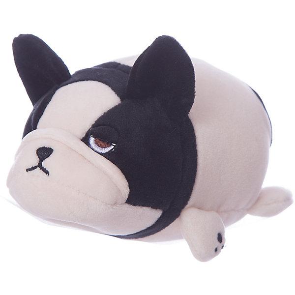 Купить Мягкая игрушка ABtoys Собачка розовая с черным, 13 см, Китай, черный/розовый, Унисекс